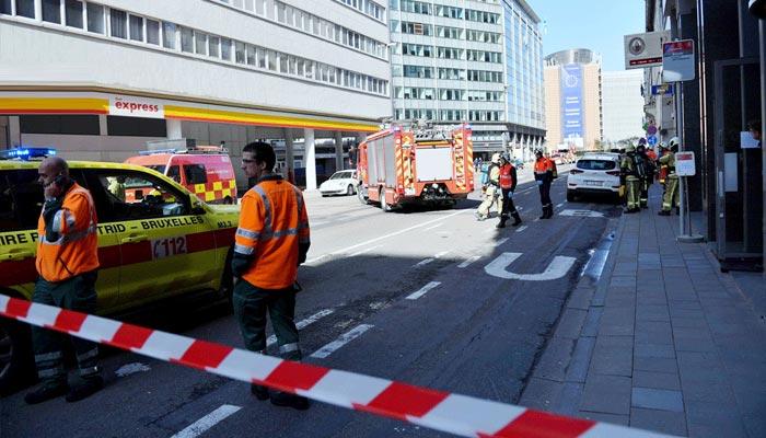 برسلز میں بم کی اطلاع پر سکیورٹی ہائی الرٹ