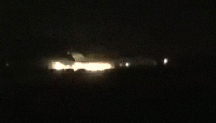 تہران :ہنگامی لینڈنگ کے دوران طیارے میں آگ لگ گئی