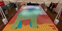Largest Canned Food Mosaic Image Guinness Record