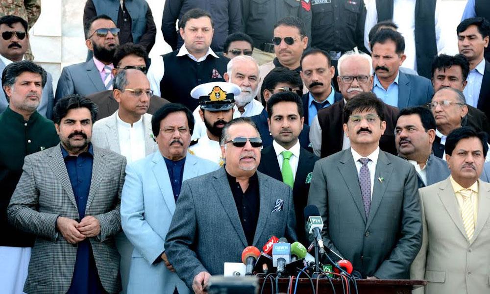 گورنر سندھ، وزیر اعلیٰ، میئر کراچی کی مزار قائد پر حاضری