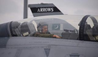 Air Chief Marshal Mujahid Anwar Khan Was Leading Fly Past On Pakistan Day Parade