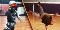 7 Year Old Shows Off Breakdancing Moves