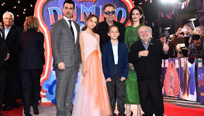 لندن میں فلم ' ڈمبو'کا رنگوں سے بھرا پریمیئر