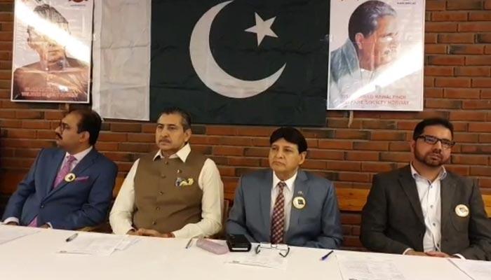 نارویجین وزیراعظم کیلئے پاکستانی تنظیم کا ایوارڈر