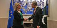 Federica Mogherini Meets Shah Mehmood Qureshi In Foreign Office