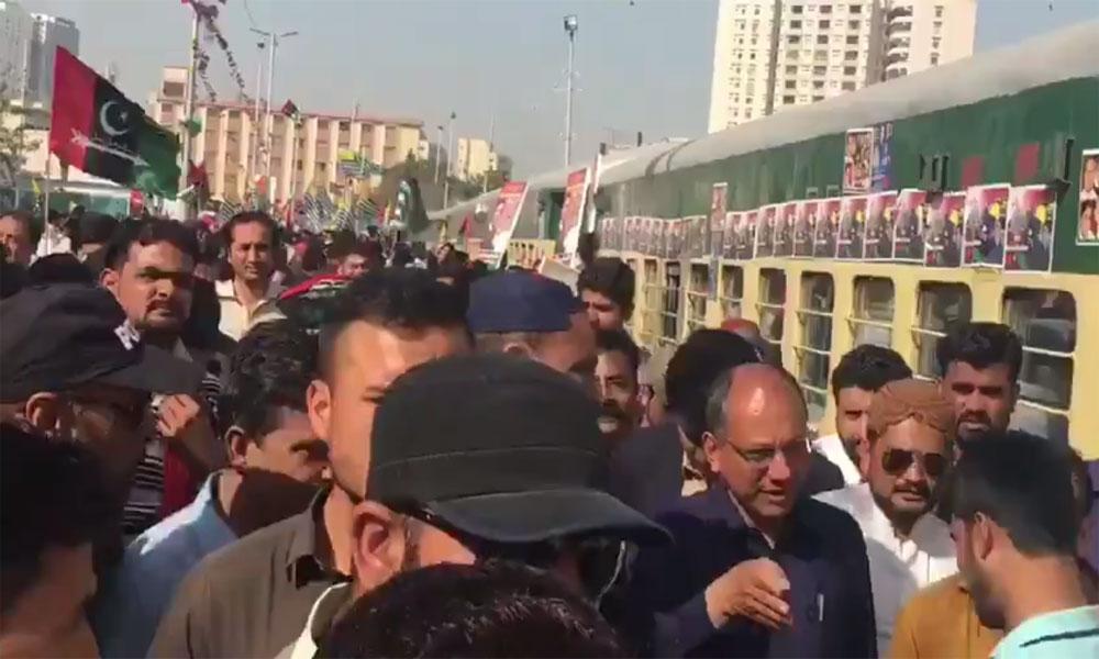 بلاول کی قیادت میں ٹرین مارچ روانہ