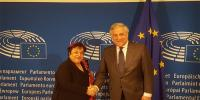Shireen Mazari Meets European Parliaments President