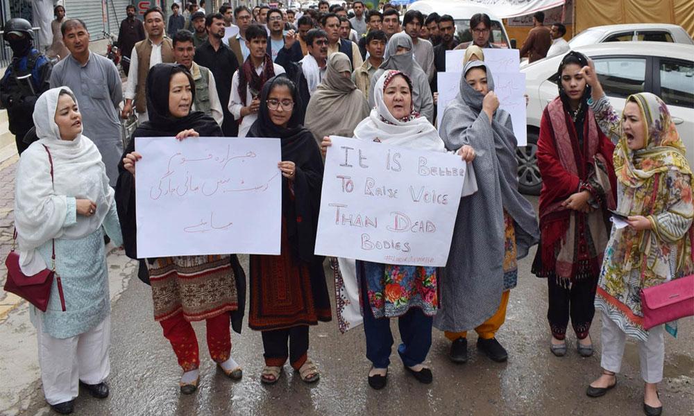کوئٹہ بم دھماکے کے خلاف کراچی میں احتجاج