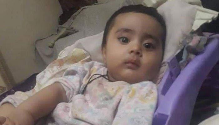 کراچی،ڈیڑھ سالہ احسن کی ہلاکت کا مقدمہ نامعلوم افراد کیخلاف درج