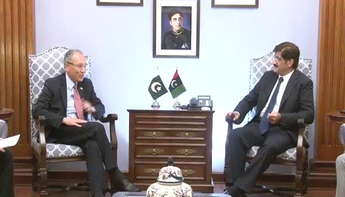 وزیراعلیٰ سندھ سے جاپانی سفیر کی ملاقات