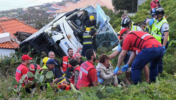 پرتگال، بس حادثے میں 28 افراد ہلاک