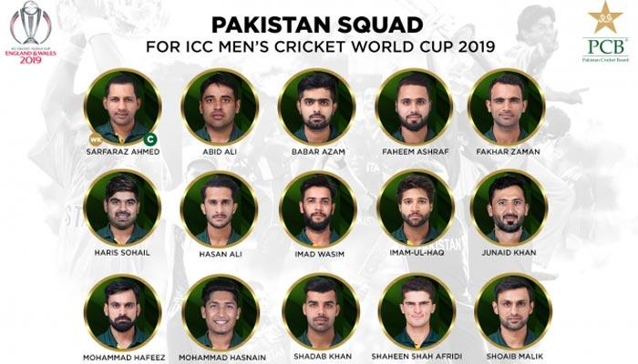 ورلڈ کپ کیلئے پاکستانی اسکواڈ کا اعلان