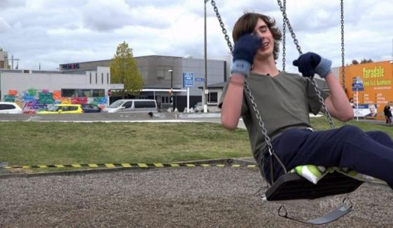 Teen Trying To Swing For 40 Hours Straight