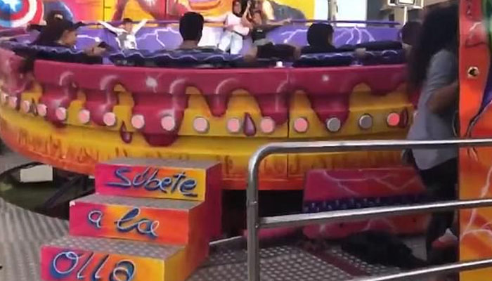 اسپین کے امیوزمنٹ پارک میں خطرناک حادثہ