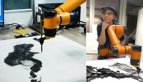 Ai Robot Creates Chinese Traditional Ink Paintings