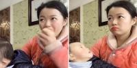 Mother Pretends To Watch Tv To Avoid Being Caught Eating An Apple By Her Greedy Nine Month Old Son