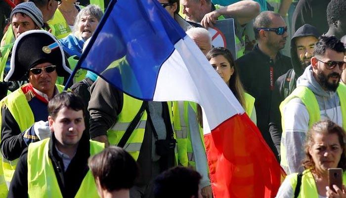 فرانس: 'پیلی جیکٹ' تحریک 23ویں ہفتے میں داخل