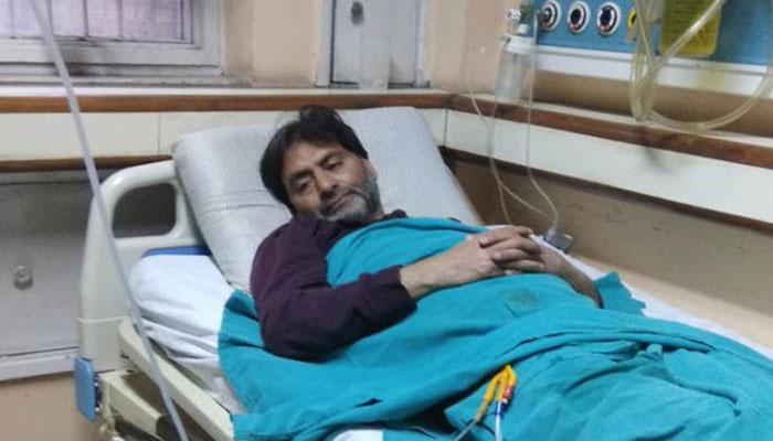 نئی دہلی:یاسین ملک کی حالت تشویشناک ، اسپتال میں داخل