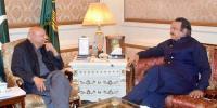 Chaudhry Sarwar Meets With Naeem Ul Haq
