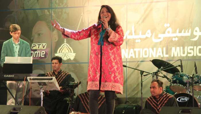 قومی موسیقی میلے کا تیسرا دن،سائرہ پیٹر نے سماں باندھ دیا