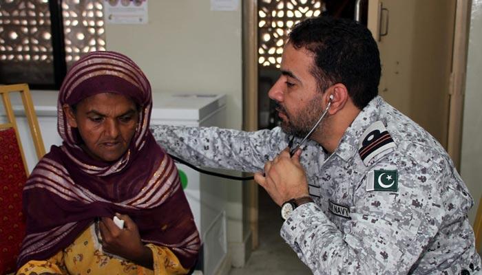کیٹی بندر: پاک بحریہ کا ایک روزہ فری میڈیکل کیمپ