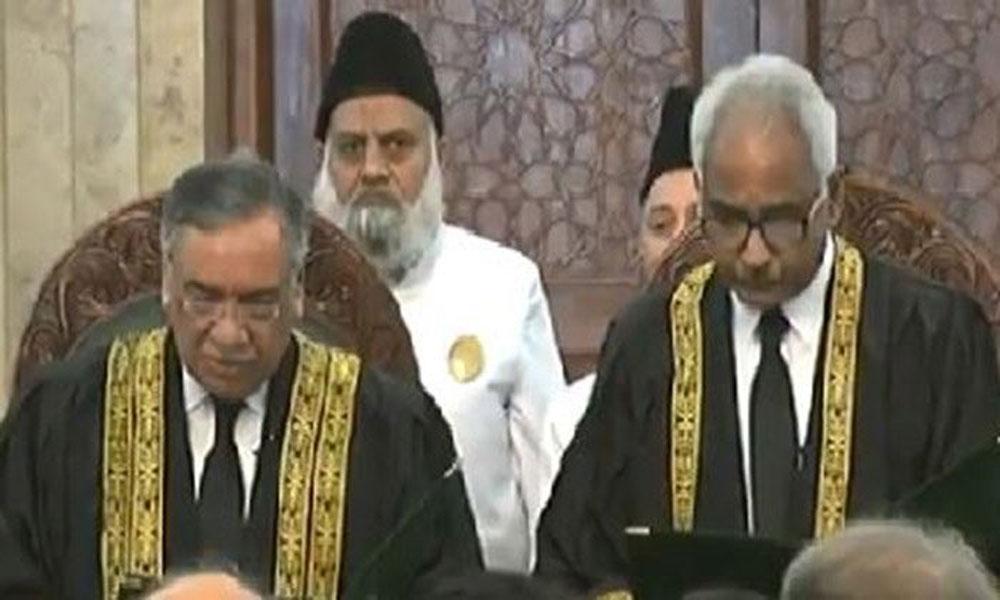 جسٹس قاضی محمد امین احمد نے بطور جج سپریم کورٹ حلف اُٹھالیا