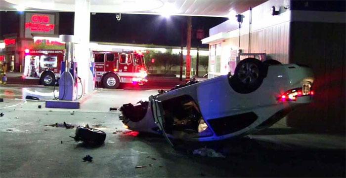ڈرائیور کی غلطی سے گیس اسٹیشن میں آگ بھڑک گئی