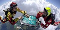 Daredevil Plays Chess While Skydiving