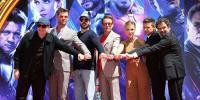 Avengers Endgame Cast Gets Hands And Feet Cemented At Chinese Theatre In Hollywood