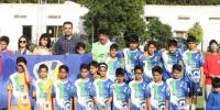 Football Match Organized Under The Auspices Of Football For Friendship