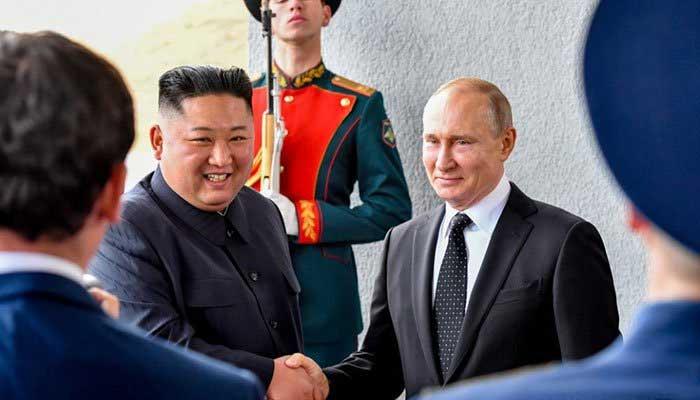 روسی صدر پیوٹن اور کم جونگ اُن کی ملاقات