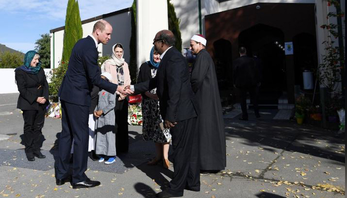 برطانوی شہزادے کا کرائسٹ چرچ میں مساجد کا دورہ