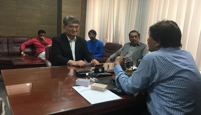 جاپانی سفارتکار کا نارتھ کراچی چلڈرن اسپتال کا اچانک دورہ