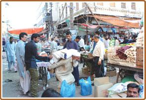 تجارتی علاقہ ''جوڑیا بازار''