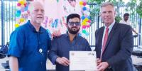 Saleem Javed Honoured In Us Counselate With Appreciation Certificates