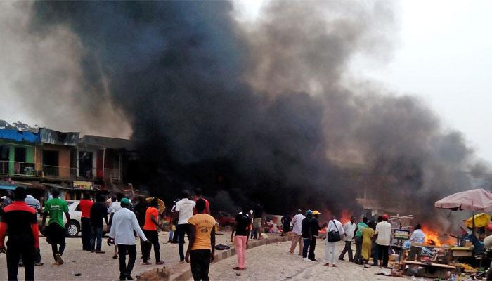 نائیجرمیں آئل ٹینکر میں دھماکا، 58 افراد ہلاک