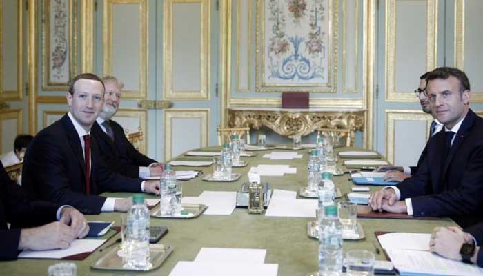 فرانسیسی صدر کی مارک زکربرگ سے ملاقات