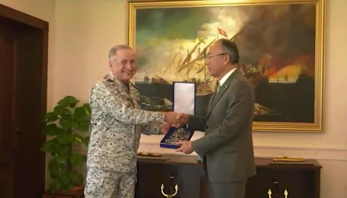 جاپان کے سفیر کی پاک بحریہ کے سربراہ سے ملاقات