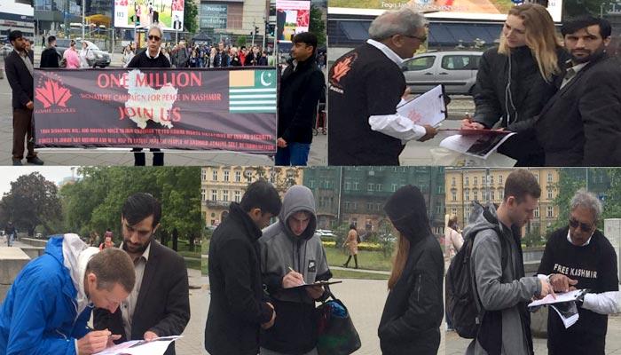 وارسا: مسئلہ کشمیر پر ایک ملین دستخطی مہم