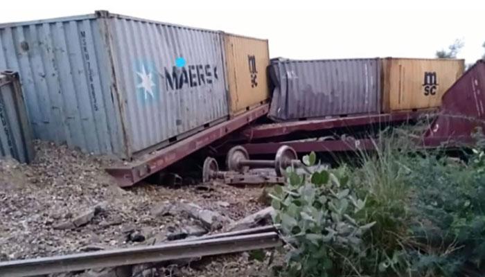 پڈعیدن، ابراہیم شاہ کے مقام پر مال گاڑی کو حادثہ