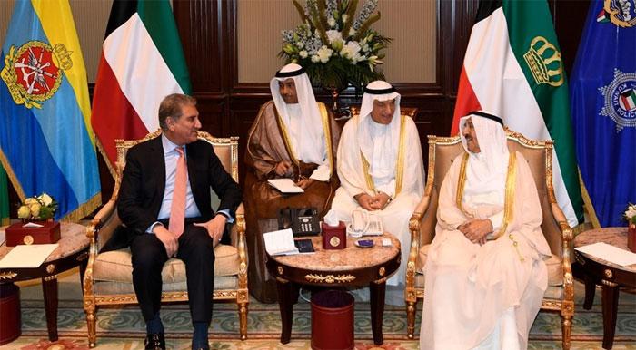 وزیر خارجہ کی کویت کے امیر سے ملاقات
