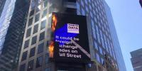 Firefighters Race To Times Square After Billboard Fire