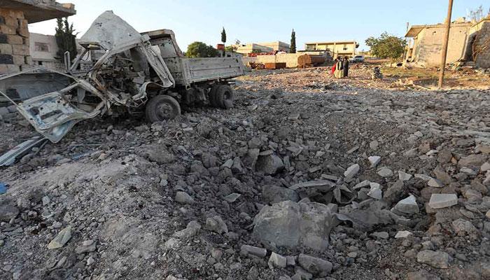 شام:ادلب میں روسی فضائی حملہ، دس شہری ہلاک