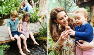 George Charlotte And Louis Visit Duchess Of Cambridges Chelsea Flower Show
