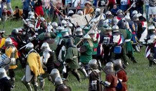 Armour Clad Warriors Clash In Medieval Battles In Ukraine