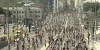Bicycle Festival 40000 Cyclists Race In Moscow