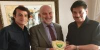 Spainish Ambassdor Meet Faisal Saleh Discussed Football Matters