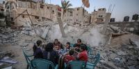 Palestinians Hold Iftar On Rubble Of Buildings