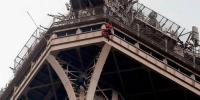 Eiffel Tower Evacuated As An Unknown Man Climbs It
