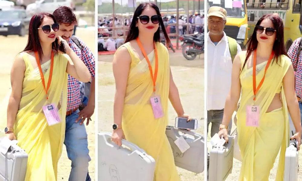 پیلی ساڑھی والی بھارتی الیکشن آفیسر کی انوکھی خواہش